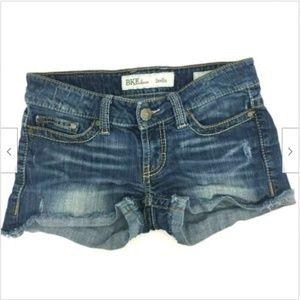 BKE Stella Jean Shorts Sz 26 Distressed Denim